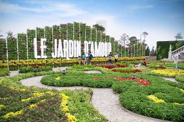 Vườn Le Jardin Damour - Bà Nà Hills tour bà nà 1 ngày
