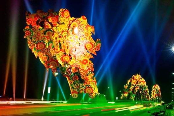 Lễ hội trình diễn ánh sáng Đà Nẵng 2015 Địa điểm du lịch Đà Nẵng 2/9
