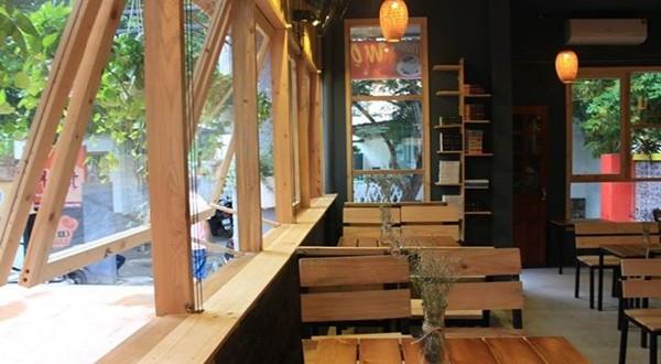 Một góc của quán Mọt Cafe Huế