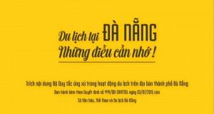 Bộ quy tắc ứng xử trong hoạt động du lịch trên địa bàn TP Đà Nẵng