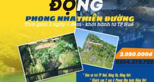 Tour Động Phong Nha Động Thiên Đường 2 ngày 1 đêm