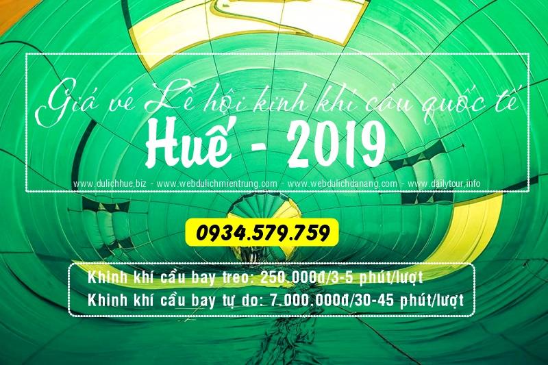 Giá vé lễ hội khinh khí cầu quốc tế Huế 2019 Lễ hội khinh khí cầu quốc tế Huế 2019