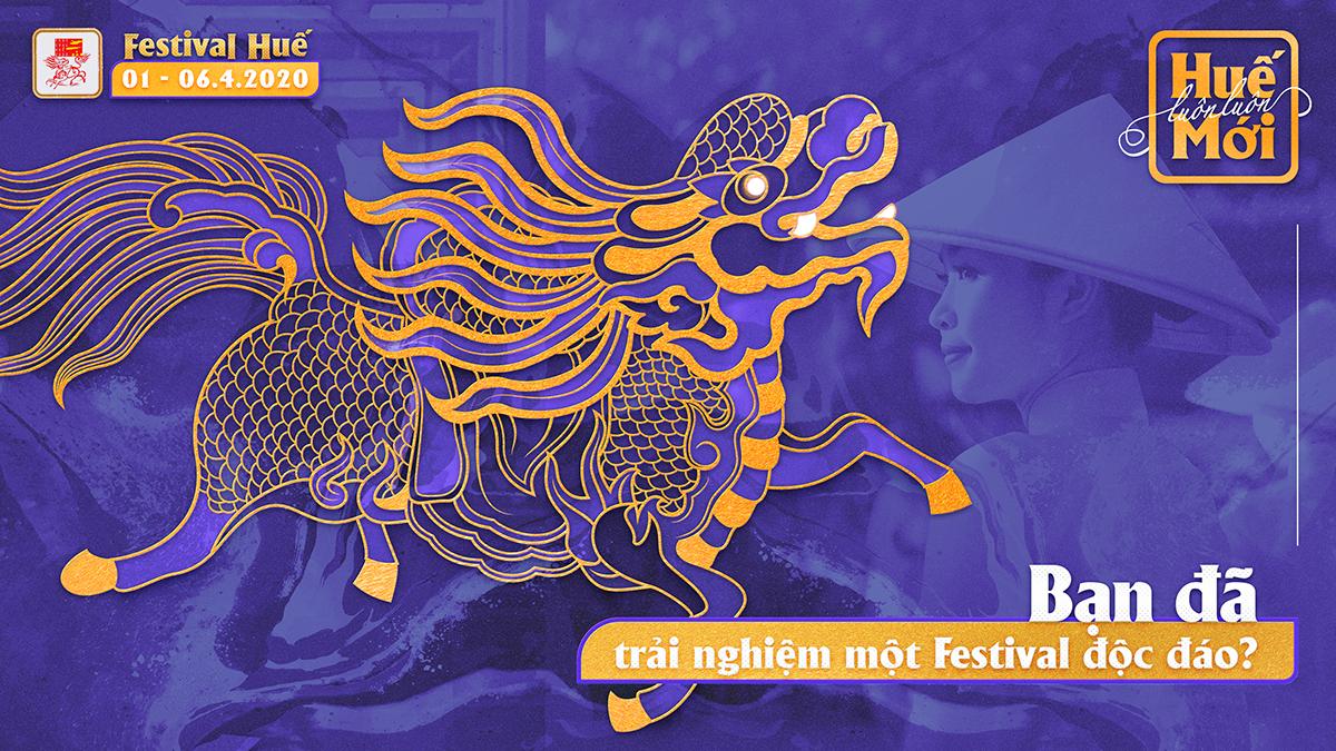 Bộ hình ảnh nhận diện của Festival Huế 2020